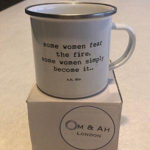 "Om & Ah ""Fire"" Enamel Mug"